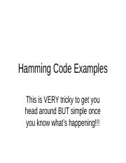 Hamming Code Examples.ppt