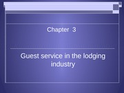 Guest service in the lodging industry