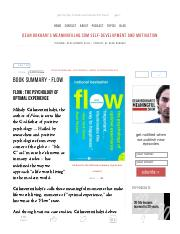 Flow _ The Psychology of Optimal Experience - Book Review.pdf
