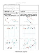 62_Addition_and_Subtraction_of_Geometric_Vectors