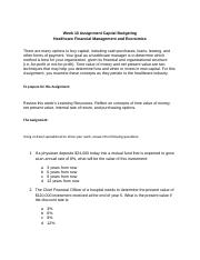 ACCT 505 Week 10 Assignment Capital Budgeting.docx