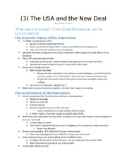 (3) The USA and the New Deal