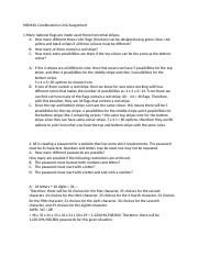 MDM4U Combinatorics Unit Assignment.docx