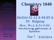 2014 Chem 1040 Day 7A CH. 3.1~3.2