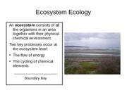 #6 - Cycling of chemical elements - PPT - Ecology