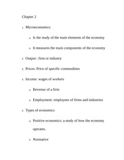 chapter 2 the economy Class Notes
