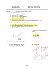 EXAM 2 REVIEW WORKSHEET
