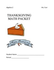 Thanksgiving Packet
