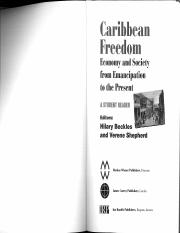 Beckles and Shepherd, Caribbean Freedom