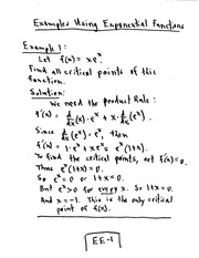 CPSC 421 Exponential Functions Lecture Notes