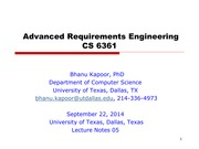 Software Requirements: Lecture Notes 06