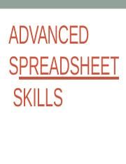 LESSON 4 ADVANCED SPREADSHEET SKILLS.pptx
