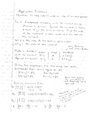 Application Problems Notes