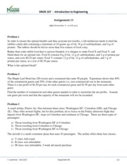 Assignment 3 - Linear Programming
