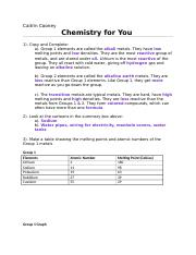 Chemistry for You Questions.docx
