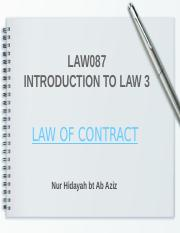 LAW OF CONTRACT-SLIDES 1-ELEMENTS