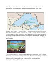 Virtual Field Trip: Water Ecosystem