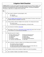 1 pages litigation_hold_checklist