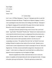 ap lit essay 2010 question 1