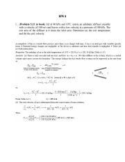 Thermodynamics Past Homework 4 review