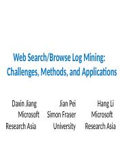非结构化大数据分析第5&6讲Lcplecture3&4 - web search and browse log mining.pptx