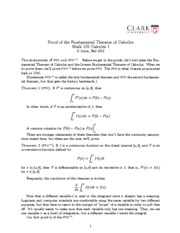 Math 120 FTCproof Notes
