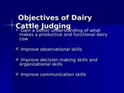 DairyCattleJudging for DARY2049 2011