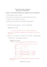 Lecture 12 Worksheet Solution