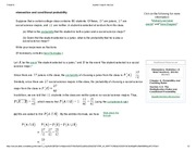 intersection and conditional probability