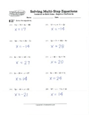 multistep equations