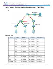 7.2.1.6 Packet Tracer Configuring Numbered Standard IPv4 ACLs Instructions.docx