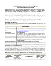 Assignment - Promotion and Distribution Plan Template(1).docx