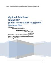 Optimal Solutions - Team C Business Plan.docx