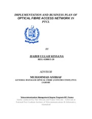 Optical Fiber Access Network MS Thesis Chapter1