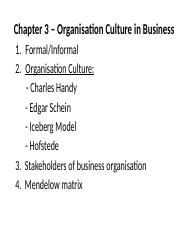 Chapter 3 – Organisation Culture in Business.pptx