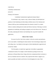 CH--Leadership Communication Application-Analysis Paper 1