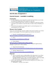 Assignment 1 Scandals in auditing 2017 SC.pdf