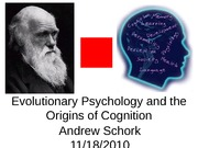 12.Evolutionary Psychology Introduction