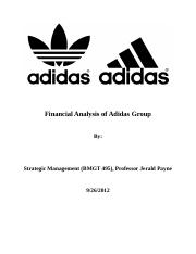 Adidas Financial Paper