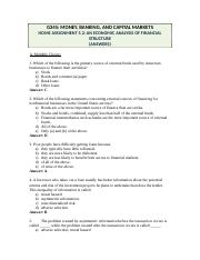 05.2.B2 Home Assignment Ch.8 - An Economic Analysis of Financial Structure (Answers).doc