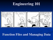 18 - Function Files and Managing Data