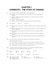 Worksheet Chemistry A Study Of Matter Worksheet Answers chemistry solution chapter 1 the study of change problem