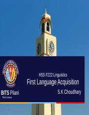 Linguistics-L1 Acquisition
