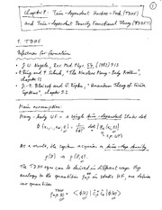 Physics 365_Class Notes on Time-Dependent Hartree-Fock (TDHF) and Time-Dependent Density Functional