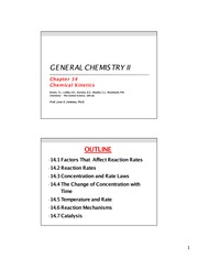 JA Jimenez - Gen Chem II (Chapter 14)
