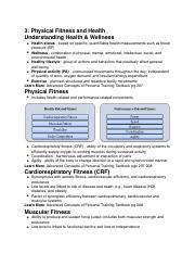 3: Physical Fitness and Health
