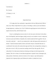 Imperialism Essay- Sam Anderson