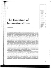2013 KU The Evolution of International Law