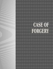 Case of Forgery