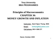 Chap.30_Money Growth and Inflation